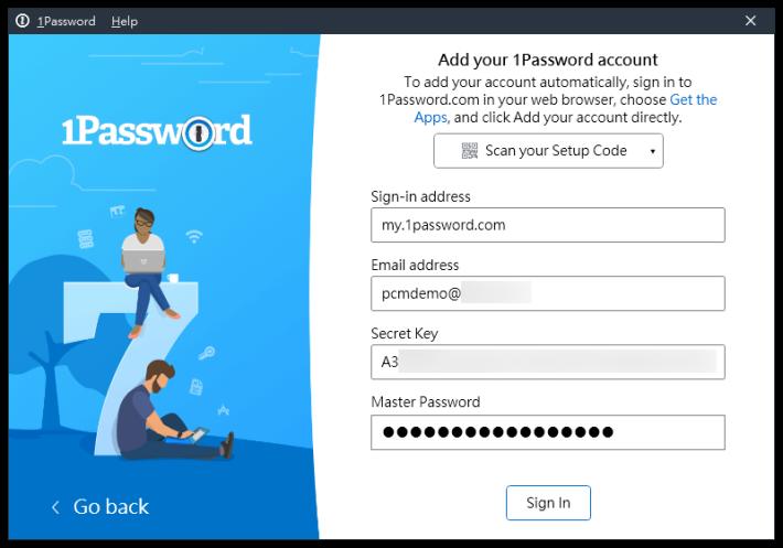 1. 安裝 PC 版客戶端需要登入時,大家可以參考早前下載的「 Emergency Kit 」 PDF 文件,或者從網頁版拷貝過來;