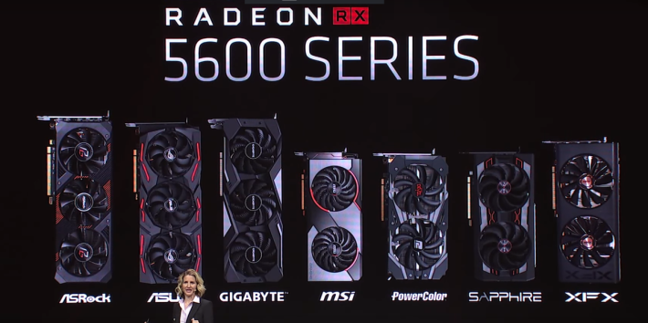 RX 5600 XT 反應良好,現場公佈已有 7 家廠商計劃推出產品。