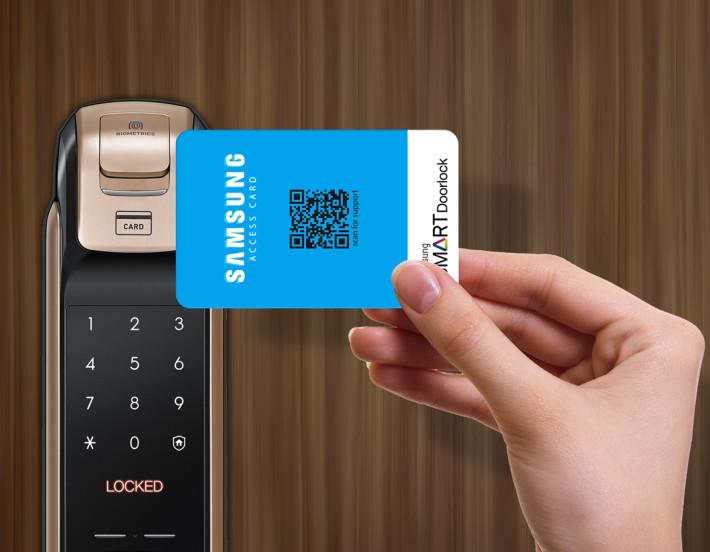 部分高階的智能門鎖會支援 RFID 門卡