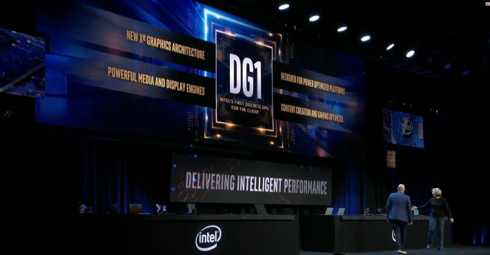 DG1 顯示卡的理念是智慧效能,而非單純的遊戲性能。
