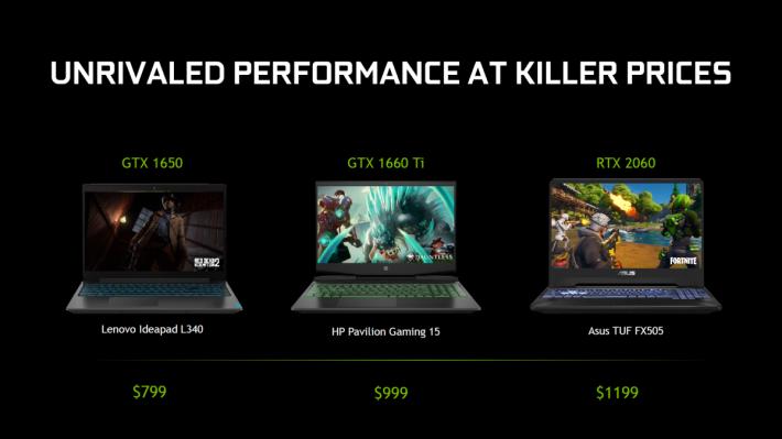 NVIDIA 表示目前 RTX 與 GTX 筆電售價差距僅有 USD$200