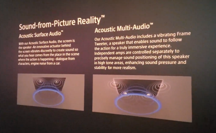 .聲音部分是今次 Sony 電視改良重點,Z8H 有邊框震動喇叭,加上主喇叭可將聲音重心移到畫面上。