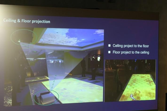 .Z5000 投影的彈性很大,至可以從地腳線投影至天花,反之亦然。