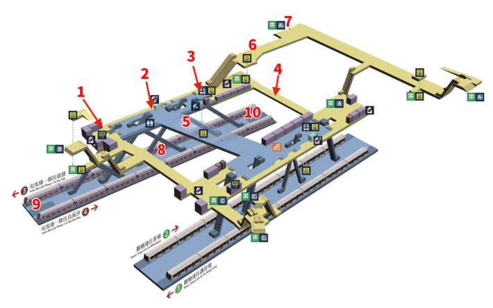鑽石山站新翼測試位置(圖片來源:港鐵)