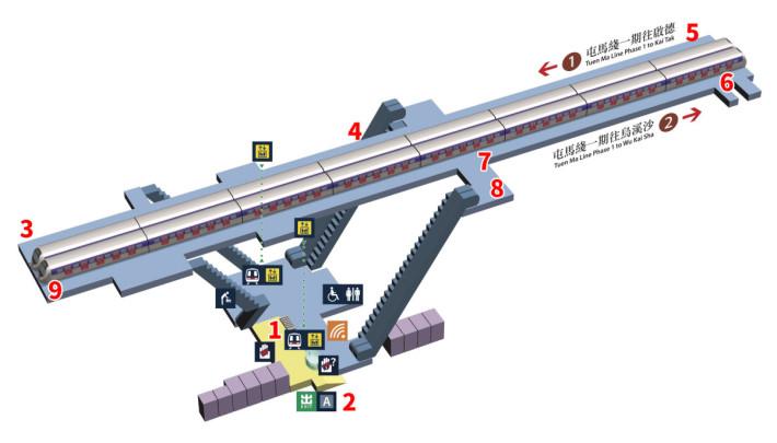 顯徑站測試位置(圖片來源:港鐵)