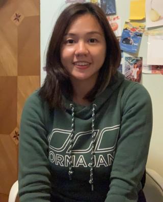 栢基國際幼稚園教師鄧汶蔚從事幼兒教育數年,目前有自製影片進行線上教學。