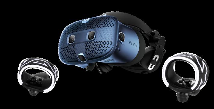 Vive Cosmos 是 2019 年 9 月推出的產品,採用 Inside-out 追踪技術、單眼 1440x1700 高解像度顯示器,可更換面板升級。