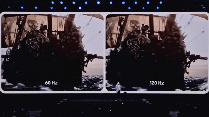 全線 S20 手機的屏幕都備有 120Hz 刷新率,提供超暢順的遊戲畫面。