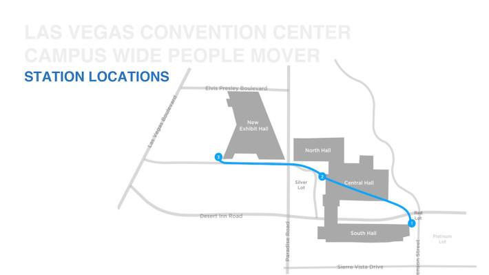 拉斯維加斯會展中心預計會開設三個車站