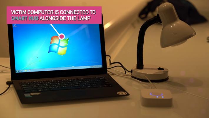 4. 受害者電腦與燈泡連接同一個 Smart Hub