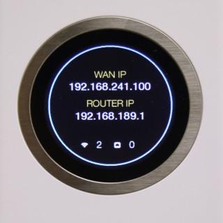 路由器可以透過觸控方式,在屏幕顯示出裝置的不同狀態。