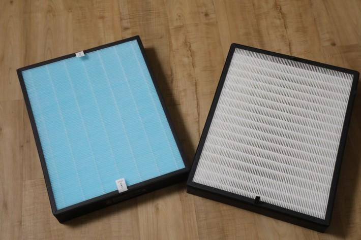 出貨時可按需要選擇 Kill Virus Filer (左) 或標準的 2 合1 Filter (右)
