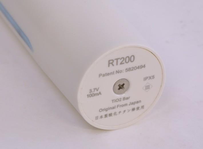 底部有 TiO2 Bar 來自日本的字眼,同時達到 IPX5 防水等級。