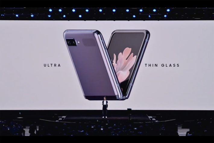 Samsung 稱 Ultra Thin Glass ( UTG )較之前柔性覆蓋材質硬度有提升。