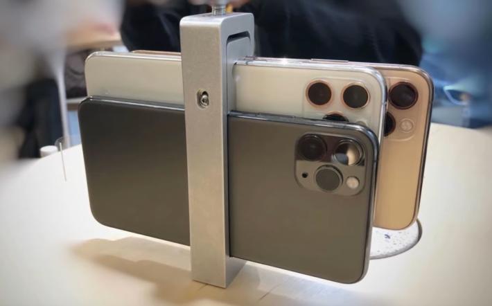 拍攝其實使用了 3 部 iPhone 11 Pro,包括一部主機,一部後備,及一部用來發送畫面及導演
