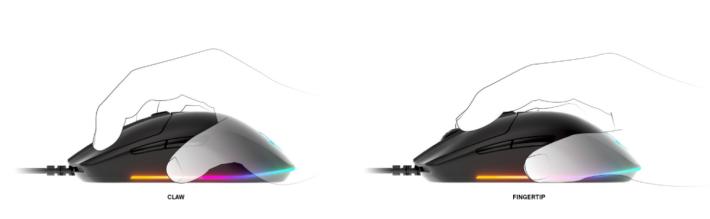 Rival 3 的外型設計同時適合爪握或指握兩大握法