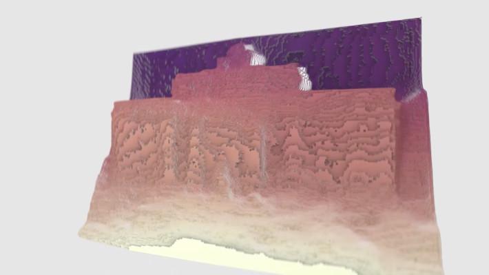 AI 推斷 2D 照片上不同範圍的深度,然後建立 3D 影像。