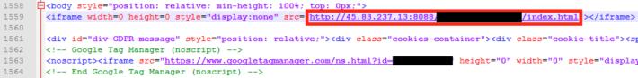駭客複製新聞網站網頁源碼,並嵌入惡意的 iFrame ,以觸發 Safari 的漏洞下載 LightSpy 模組。(資料來源: Trend Micro )