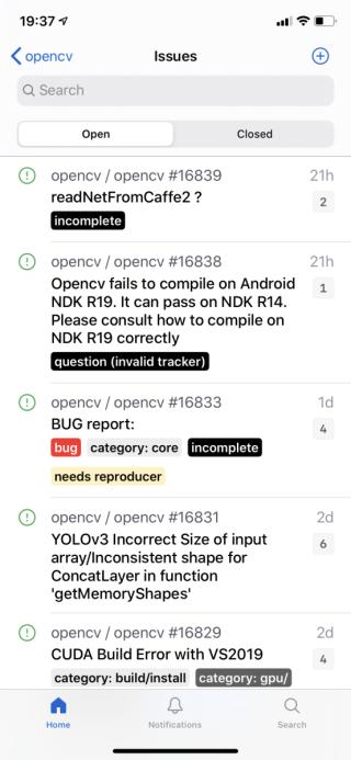用戶提出的程式問題和處理狀況一目了然