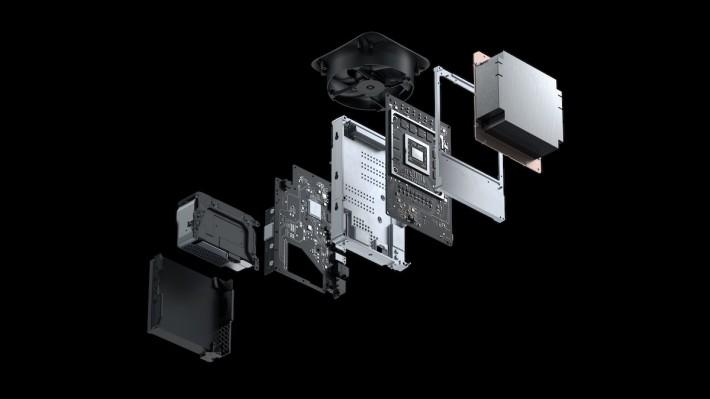 Xbox Series X 的內部佈局,全部都垂直放置