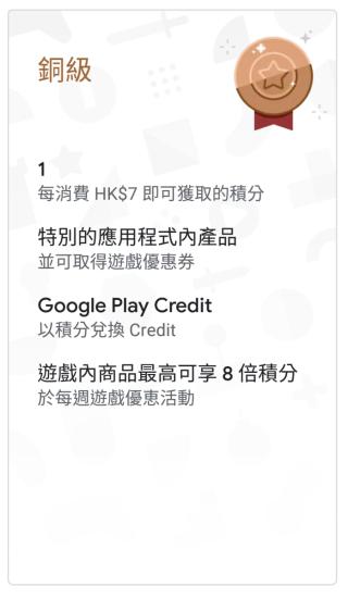Google Play Points 銅級