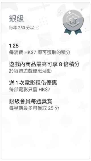 Google Play Points 銀級