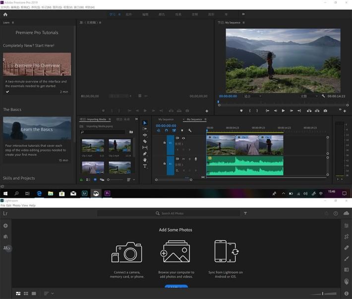 同時執相、製片的朋友,可以將原相再放入下方屏幕程式執相,再於上方 Premiere 作後製,十分方便。