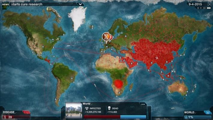 《瘟疫公司》原來玩法要大家扮演病毒將人類全滅,以現在的情況來說確是有點不吉利
