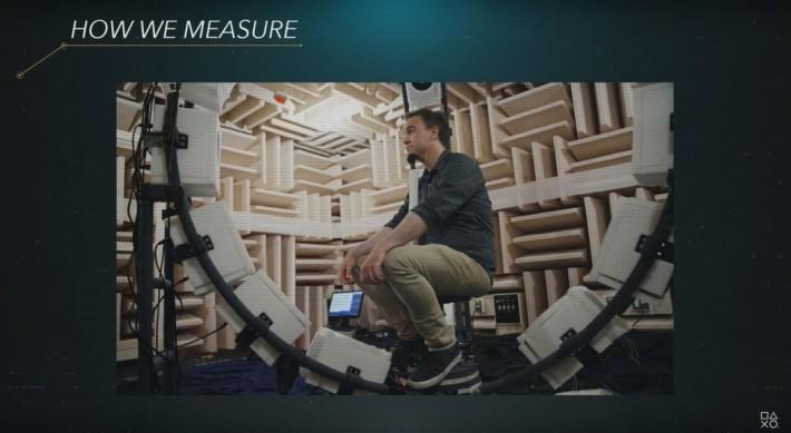 PlayStation 為此建設了一組由 22 部喇叭環繞組成的機械,收集超過一百人的數據