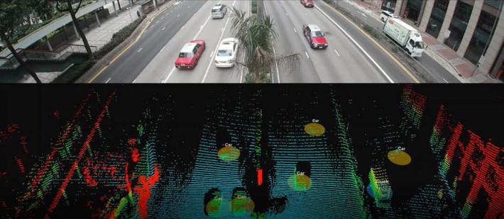 光學雷達的成像,僅限識別車輛,不會攝下路人容貌。