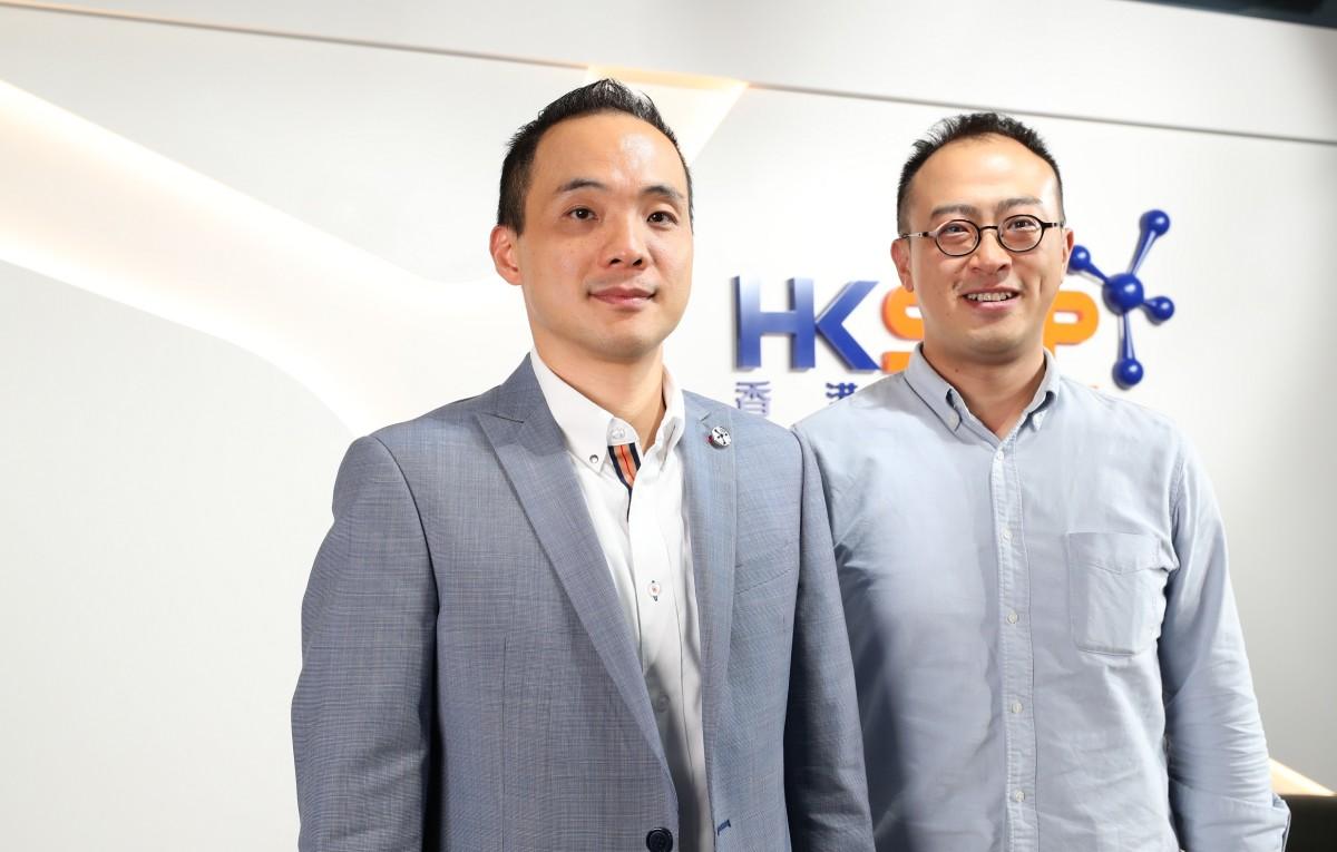 香港科技園公司首席科技總監戴紹龍(左)與 Lalamove 人力資源副總裁余浩然分享創業公司請人的要求。