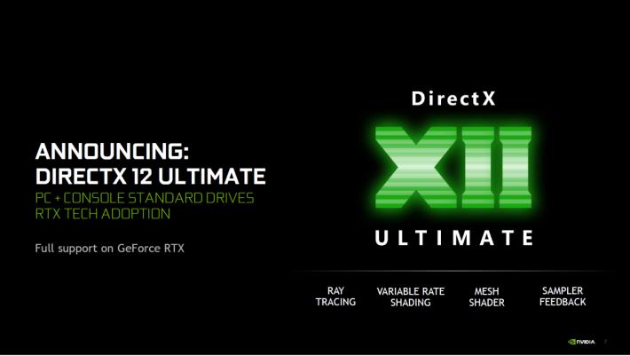 NVIDIA 表示 DirectX 12 Ultimate 將完整支援Turing 架構的 4 項新技術