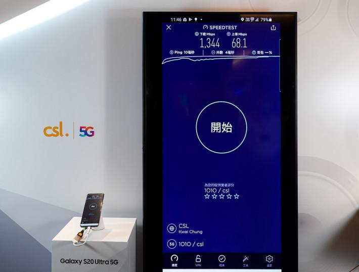 今日 HKT 為傳媒先行預覽他們的 5G 網絡速度,下載速度可高達 1.3Gbps。