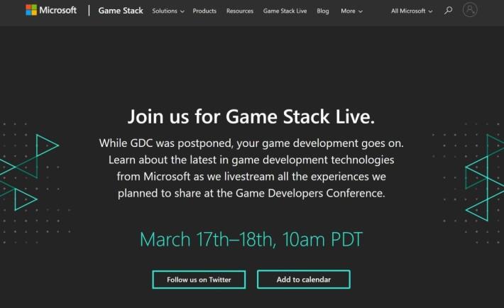 GDC 取消後, Microsoft 也準備 17-18 日期間在網上舉行一連串直播活動,介紹旗下的遊戲開發生態圈。
