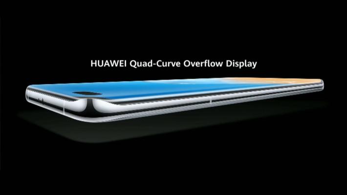 P40 與 P40 Pro的「Quad curve overflow display」意味機身四邊邊框設計得更窄,屏幕弧度較大,令握感更為圓渾。