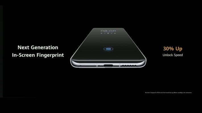 支援指紋辨識功能,而且速度比上代快 30%。