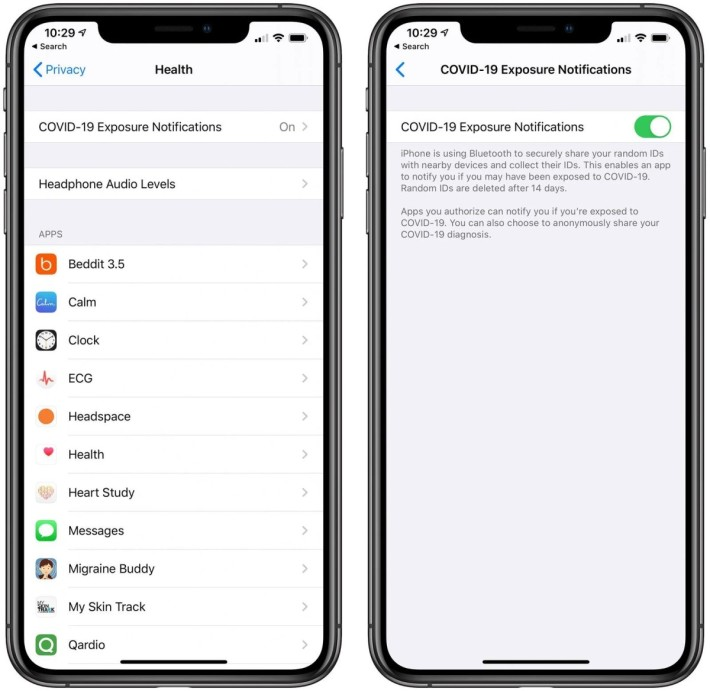 iOS 13.5 beta 3 引入「曝露通知」 API ,而用戶就可以在健康程式裡選擇不參與。
