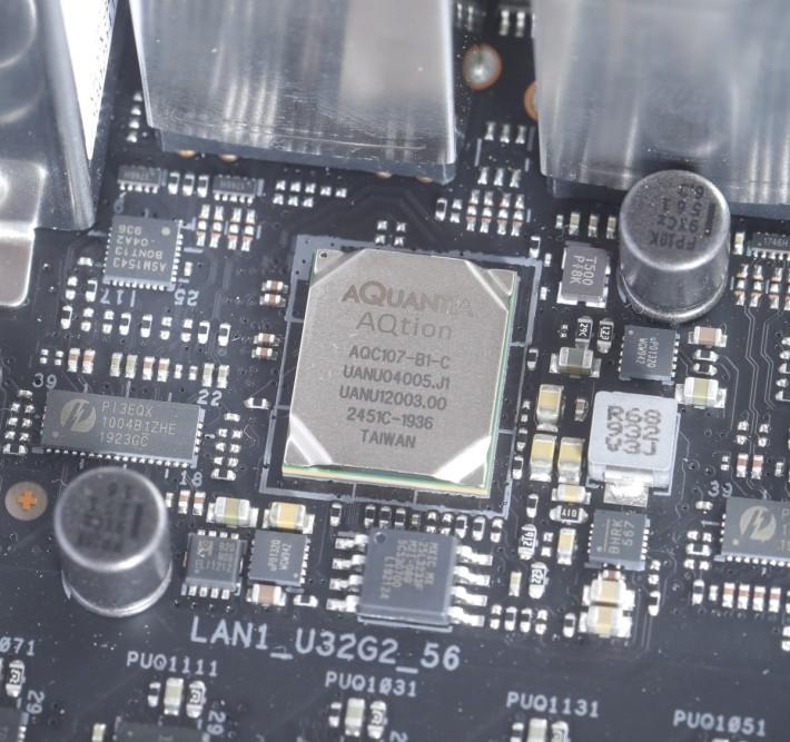 數板上最強的晶片,非 Marvell AQtion AQC107 10Gb LAN 莫屬。