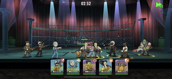 競技場以自動方式進行比賽,玩家可以調校速度,更快得到比賽結果。