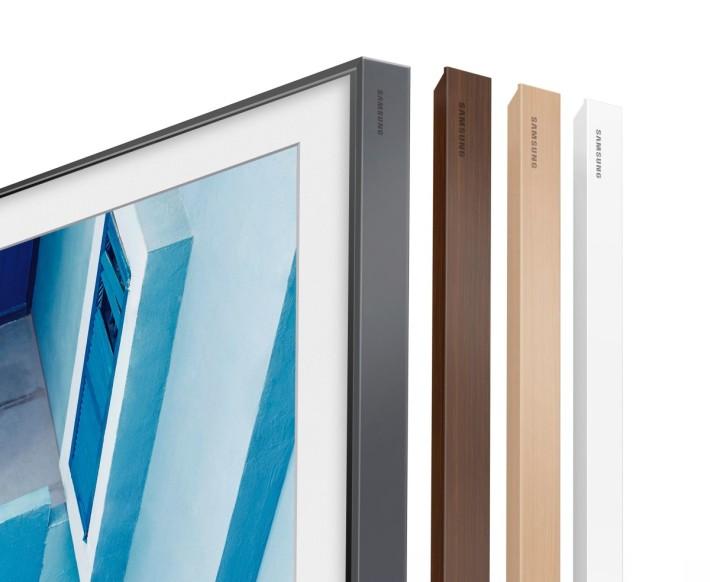電視外框採用磁吸式設計,可選購適合外框配襯家中裝修風格。
