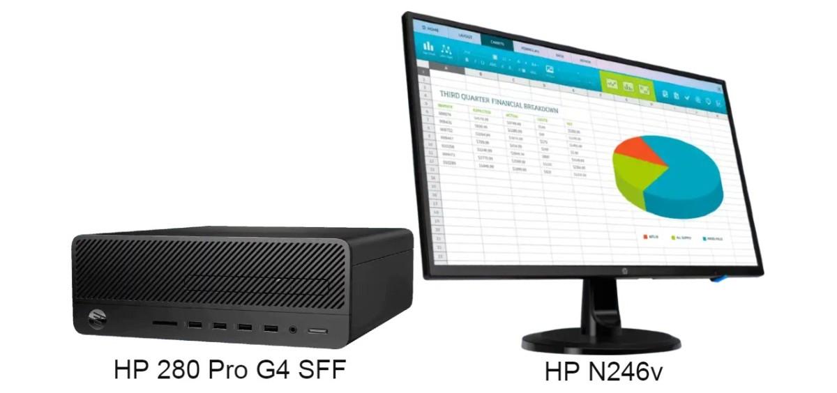 HP 280 Pro G4 SFF 工作站搭配 HP N246v 23.8 吋闊屏組合,優惠價 6,988 港元(原價 8,389 港元)。