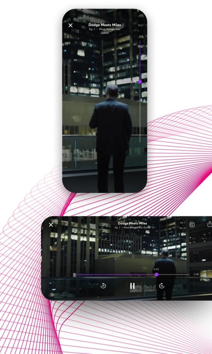 Turnstyle 可將電話橫放或直放觀看,各有相應的畫面。