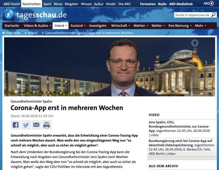 德國聯邦保健大臣 Jens Spahn 日前接受傳媒訪問,解釋基於公眾對私隱的疑慮,接觸者追踪程式要由中央監控改為分散式比對,所以要押後幾星期才能推出。
