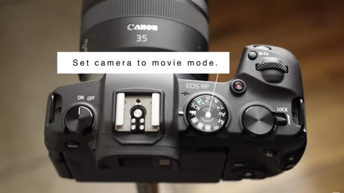 使用時要將相機切換到攝影機模式