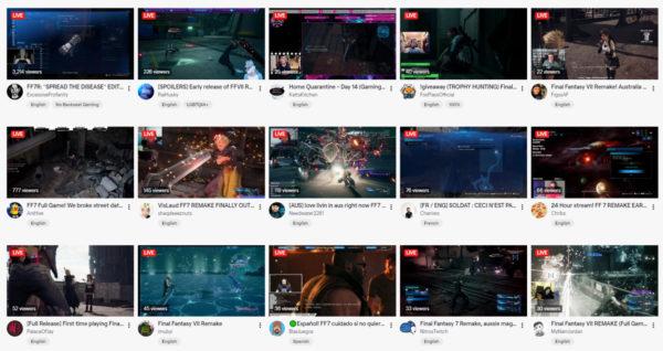 《FF7 Remake》 在線上已經有大量人進行直播,而官方只能說一聲「勸勿偷跑劇透」.....