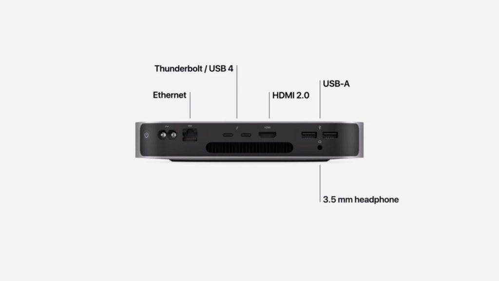 去年推出、採用 Apple 自家研發 M1 晶片的 Mac Mini 仍然採用實際上是 Thunderbolt 3 的 Thunderbolt / USB 4 接口。