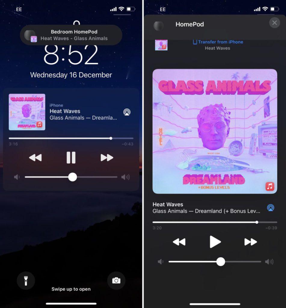 不同房間 HomePod mini 間接力播放的功能有望在 iOS 14.4 正式推出。