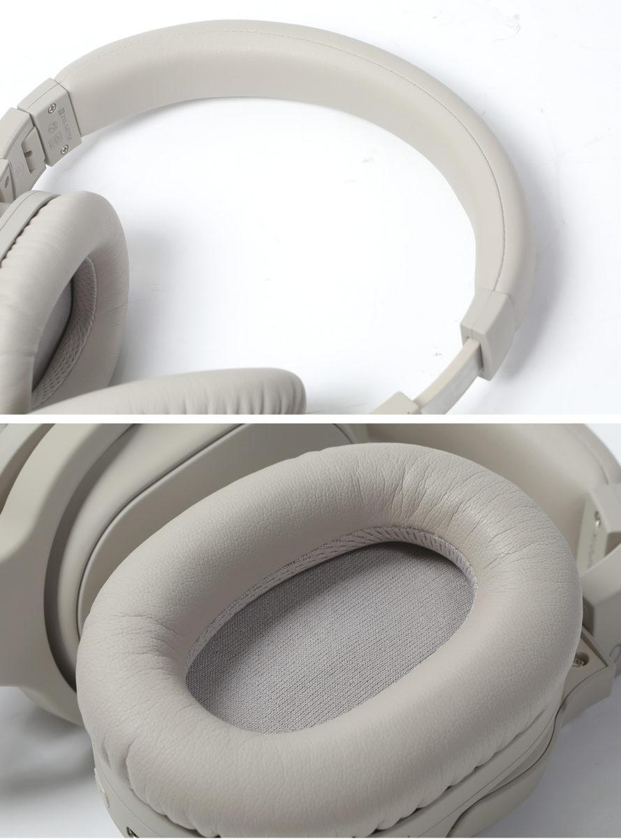 頭帶及耳棉採用軟皮包裹,佩戴時相當舒適。