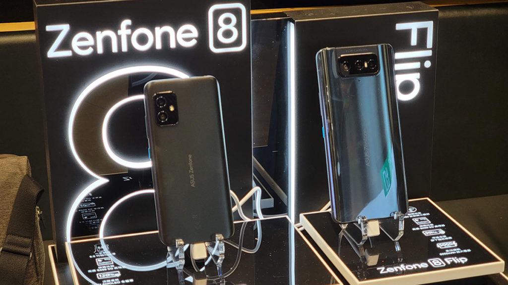 ZenFone 8 以一手掌握、輕巧機身卻具備旗艦規格為賣點;ZenFone 8 Flip 則延續翻轉式鏡頭好處,並升級至使用 Snapdragon 888 處理器。