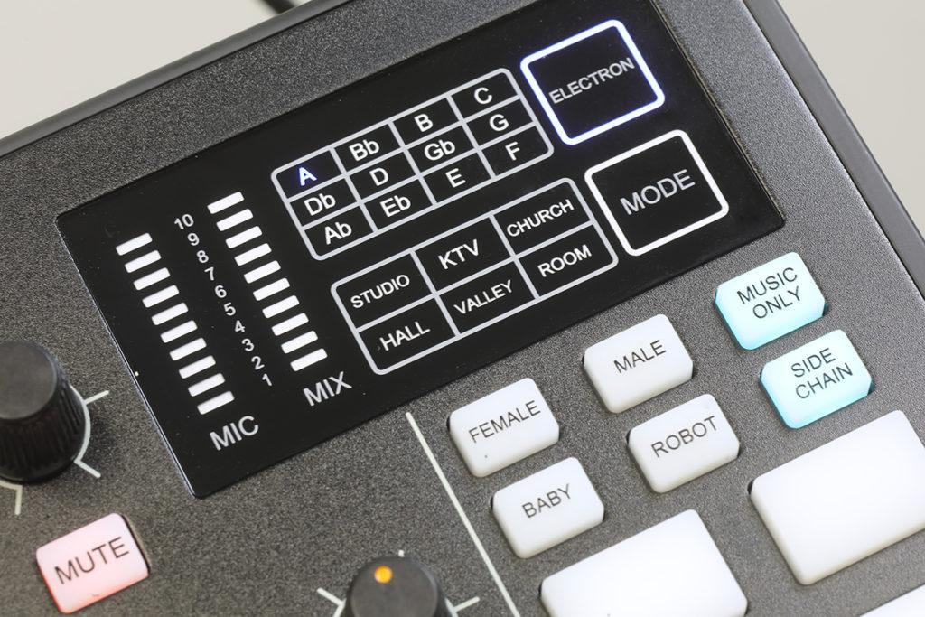 可模擬身處不同環境的效果,如選擇「KTV」的話就會加大 Echo 。
